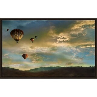 """Sunset Rendezvous"" by Mike Calascibetta Canvas in Floating Frame - Blue"