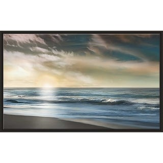 """""""The Promise"""" by Mike Calascibetta Print on Canvas in Floating Frame - Blue"""