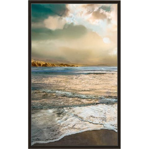 """""""Nuance"""" by Mike Calascibetta Print on Canvas in Floating Frame - Blue"""