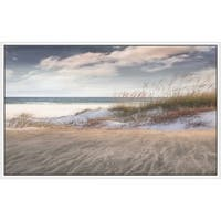 """""""Amongst The Sea Grass"""" by Mike Calascibetta Canvas in Floating Frame - Blue"""