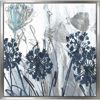 """Indigo Field 1"" by Susan Jill Print on Canvas in Floating Frame - Blue"