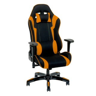 CorLiving Bonded Leather, Fabric, and Mesh High-back Ergonomic Gaming Chair
