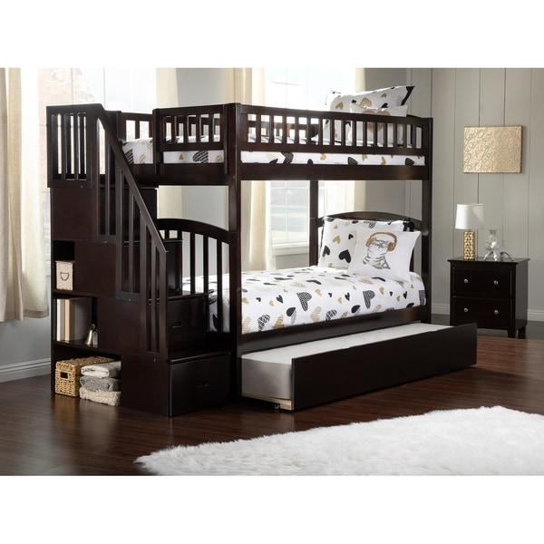 Shop Westbrook Staircase Bunk Twin Twin With Twin Size Trundle Bed