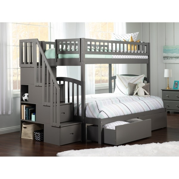 Shop Westbrook Staircase Bunk Twin Over Full With 2 Urban