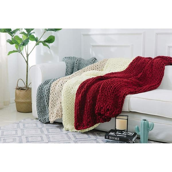 Cheer Collection Ultra Plush and Soft Chunky Cable Knit Throw Blanket ef773ab2 1ae2 49fc 89ed a297dd89df92 600