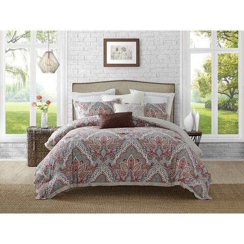 Ellen Tracy 5Piece Upton Park Cotton Reversible Comforter Set - Multi