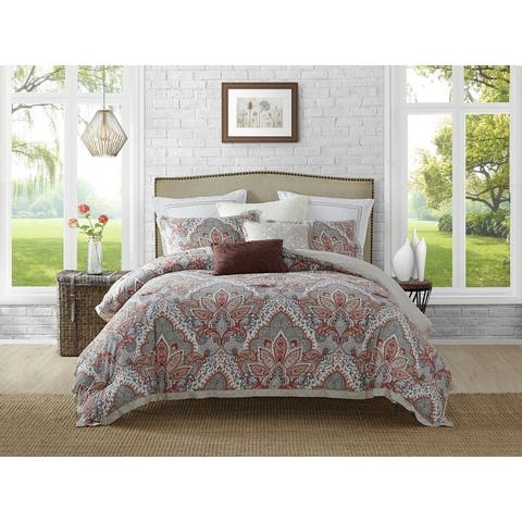 Ellen Tracy 5Piece Upton Park Cotton Reversible Comforter Set - Multi