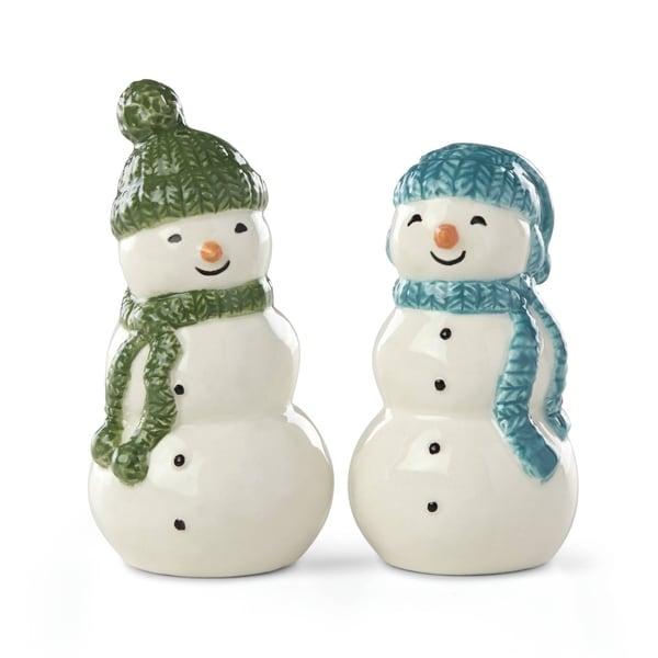 Lenox Balsam Lane Snowman Salt & Pepper Set