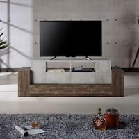 """Furniture of America Zeddy Industrial Faux Concrete TV - 71"""" x 18"""" x 24"""""""