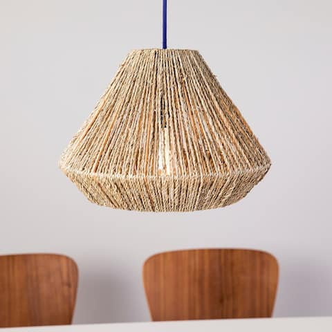 The Curated Nomad Westlake Seagrass 15-inch Pendant Shade