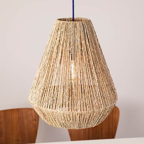 The Curated Nomad Westlake Seagrass Shade (16-inch Pendant)