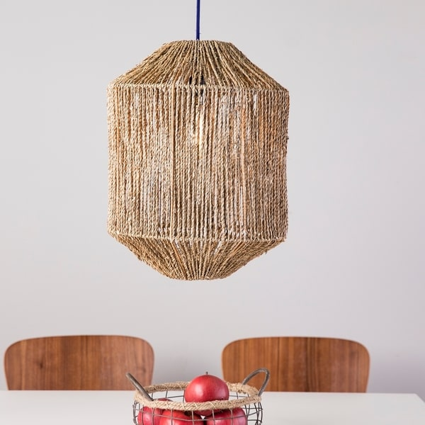 The Curated Nomad Westlake Seagrass Pendant Shade. Opens flyout.