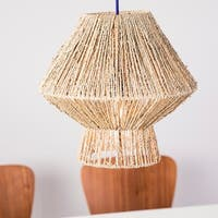 The Curated Nomad Westlake Seagrass 14-inch Pendant Shade