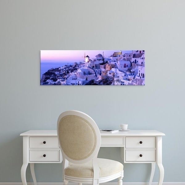 Easy Art Prints Panoramic Images's 'Evening, Ia, Santorini, Greece' Premium Canvas Art