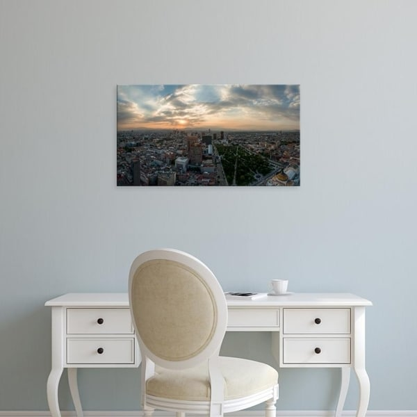 Easy Art Prints Panoramic Images's 'Aerial view of cityscape from Torre Latinoamericana, Mexico City, Mexico' Premium Canvas Art
