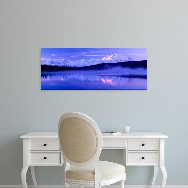 Easy Art Prints Panoramic Images's 'Snow mountains, Mt McKinley, Wonder Lake, Denali National Park, Alaska' Canvas Art