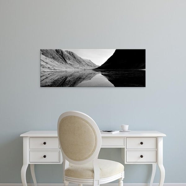 Easy Art Prints Panoramic Images's 'Mountains in a lake, Loch Achtriochtan, Glencoe, Highlands Region, Scotland' Canvas Art