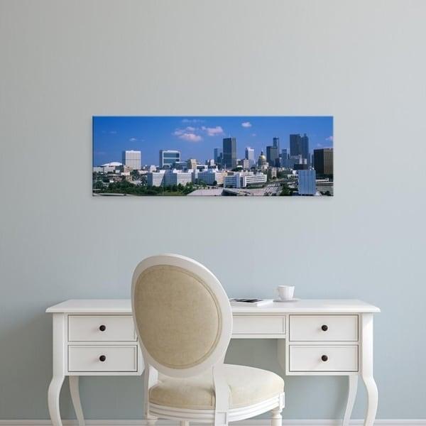 Easy Art Prints Panoramic Images's 'Skyscrapers in a city, Atlanta, Georgia, USA' Premium Canvas Art