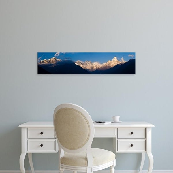 Easy Art Prints Panoramic Images's 'Snowcapped mountains, Mt Everest, Ama Dablam, Khumbu, Himalayas, Nepal' Premium Canvas Art