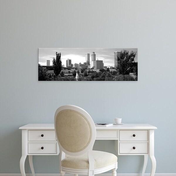 Easy Art Prints Panoramic Images's 'Downtown skyline from Centennial Park, Tulsa, Oklahoma, USA' Premium Canvas Art