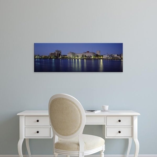 Easy Art Prints Panoramic Images's 'Waterfront, Cape Fear River, Wilmington, New Hanover County, North Carolina' Canvas Art