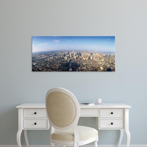 Easy Art Prints Panoramic Images's 'Aerial view of a city, Philadelphia, Pennsylvania, USA' Premium Canvas Art