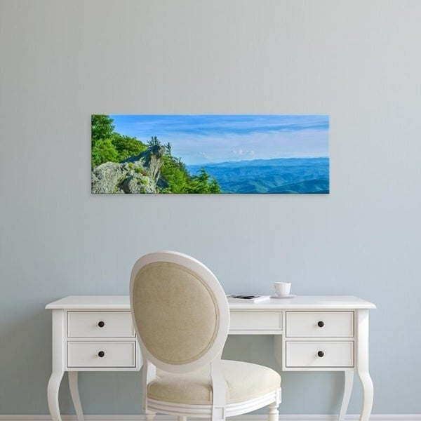 Easy Art Prints Panoramic Images's 'Grandfather Mountain state park near Linville, North Carolina.' Premium Canvas Art