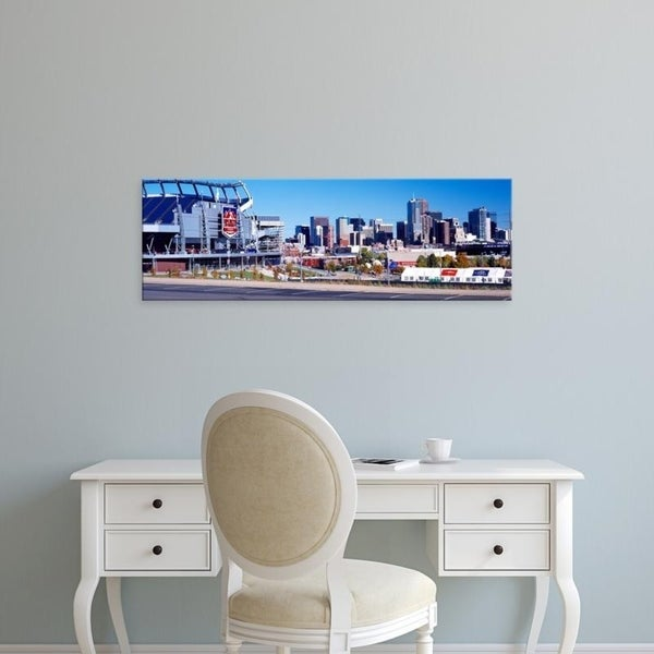 Easy Art Prints Panoramic Images's 'Stadium, Sports Authority Field at Mile High, Denver, Denver County, Colorado' Canvas Art