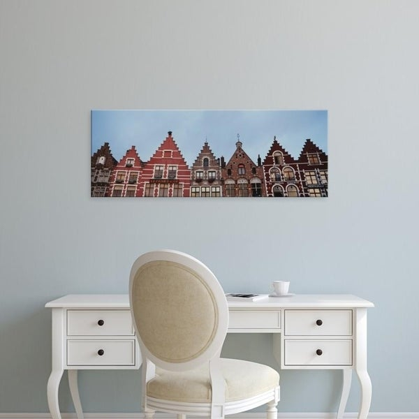 Easy Art Prints Panoramic Images's 'Low angle view of buildings, Bruges, Belgium' Premium Canvas Art