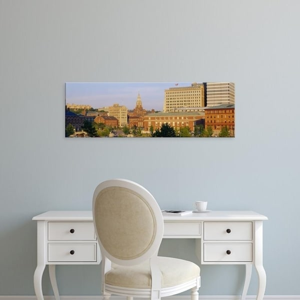 Easy Art Prints Panoramic Images's 'Panoramic view of a cityscape, Providence, Rhode Island, New England' Premium Canvas Art