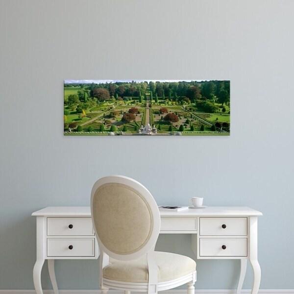 Easy Art Prints Panoramic Images's 'Formal gardens of a castle, Drummond Castle, Perthshire, Scotland' Premium Canvas Art