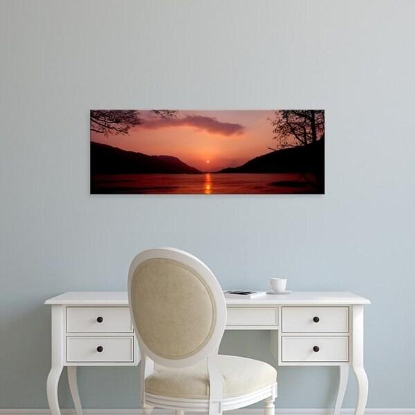 Easy Art Prints Panoramic Images's 'Loch Leven, Ballachulish, Lochaber, Highlands Region, Scotland' Canvas Art