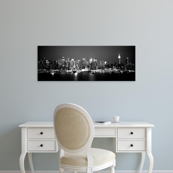 Easy Art Prints Panoramic Images's 'Buildings at the waterfront, Manhattan, New York City, New York State' Premium Canvas Art