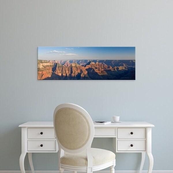 Easy Art Prints Panoramic Images's 'Rock formations at a canyon, North Rim, Grand Canyon National Park, Arizona' Canvas Art
