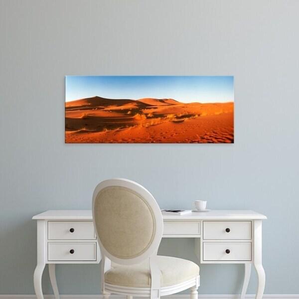 Easy Art Prints Panoramic Images's 'Desert at sunrise, Sahara Desert, Morocco' Premium Canvas Art