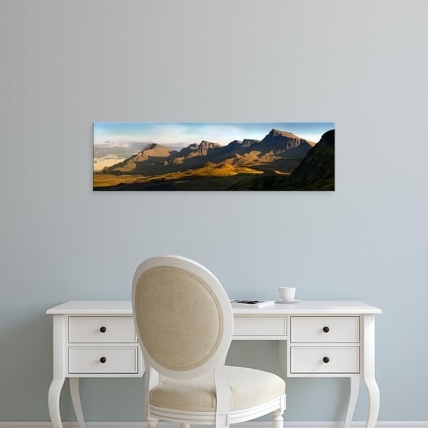 Easy Art Prints Panoramic Images's 'Trotternish?Ridge at sunset, Skye, Scotland' Premium Canvas Art