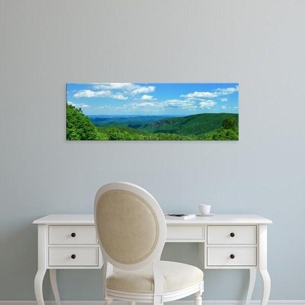 Easy Art Prints Panoramic Images's 'Blue Ridge Mountain view, Great Smoky Mountains National Park, NC' Premium Canvas Art