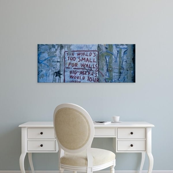 Easy Art Prints Panoramic Images's 'Graffiti on a wall, Berlin Wall, Berlin, Germany' Premium Canvas Art