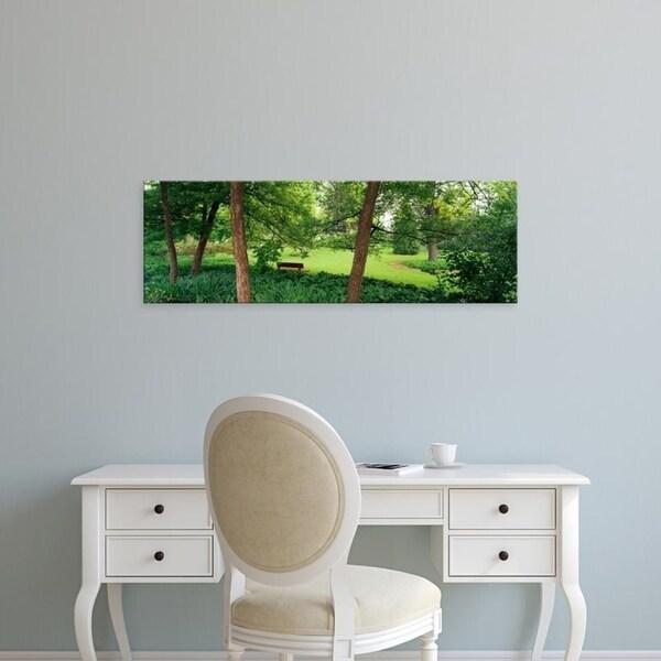 Easy Art Prints Panoramic Images's 'Trees in a park, Adams Park, Wheaton, Illinois, USA' Premium Canvas Art