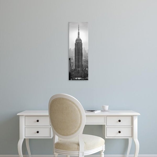 Easy Art Prints Panoramic Images's 'Empire State Building in a city, Manhattan, New York City, New York State' Canvas Art