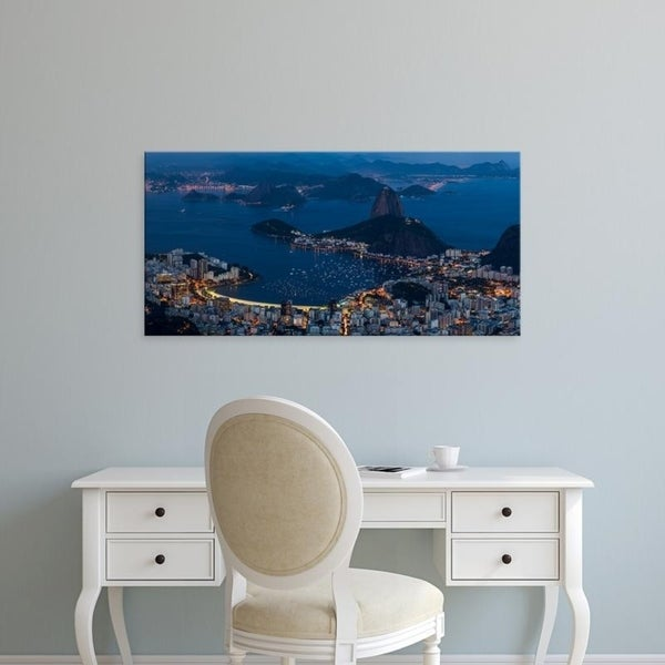 Easy Art Prints Panoramic Images's 'Aerial view of city from Christ the Redeemer, Corcovado, Rio de Janeiro, Brazil' Canvas Art