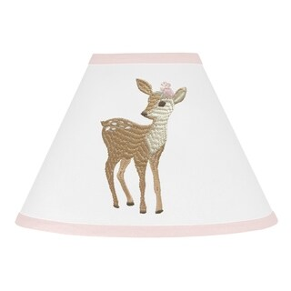 Sweet Jojo Designs Blush Pink and White Woodland Deer Floral Collection Lamp Shade