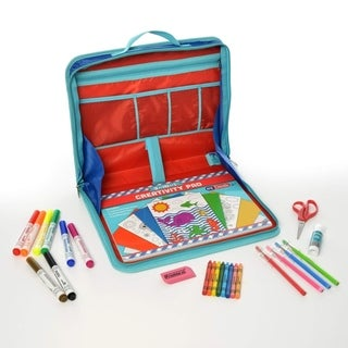 Kids Children Activity Kit Case Laptop Style Desk -30pc