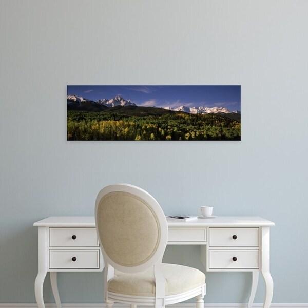 Easy Art Prints Panoramic Images's 'Mountains, Sneffels Range, Dallas Divide, Uncompahgre National Forest, Colorado' Canvas Art