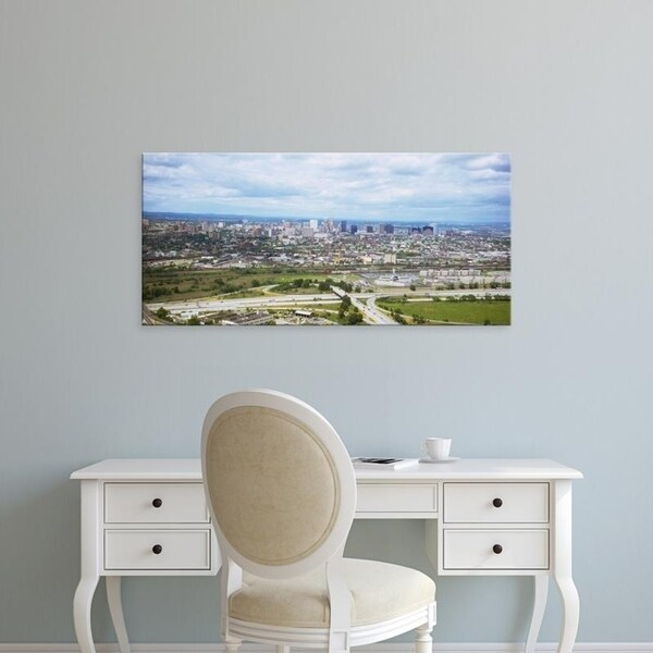 Easy Art Prints Panoramic Images's 'Aerial view of a city, Newark, New Jersey, USA' Premium Canvas Art