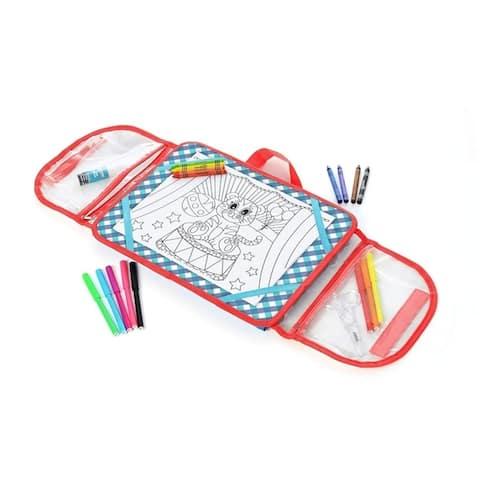Kids Children Activity Kit Case Laptop Style Desk-64pc