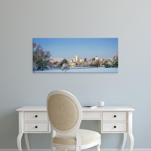 Easy Art Prints Panoramic Images's 'City Park covered with snow at winter, City Park, Denver, Colorado, USA' Premium Canvas Art