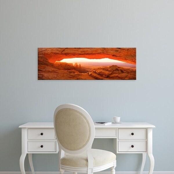Easy Art Prints Panoramic Images's 'Mesa Arch Canyonlands National Park UT USA' Premium Canvas Art