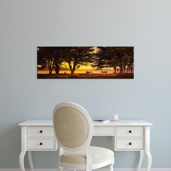 Easy Art Prints Panoramic Images's 'Trees In A Field, Crissy Field, San Francisco, California, USA' Premium Canvas Art