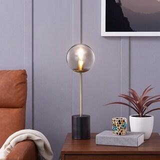 Harper Blvd Daphne Smoke Glass Globe 20-inch Table Lamp